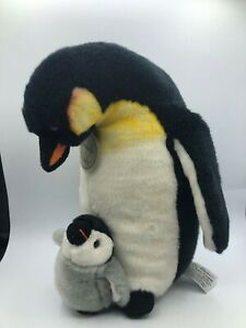 Russ Berrie Yomiko Classics Mommy & Baby Penguin Bird Plush Stuffed Toy Animal