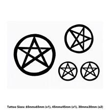 'Pentagram Star' Temporary Tattoos (TO017740)