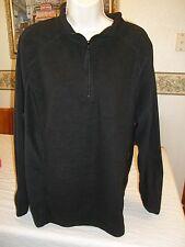 Women's Made For Life 1/4 Zip Fleece Pullover Jacket Black SZ 1X NEW
