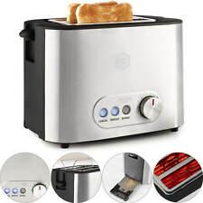 Balter Toaster 2 Scheiben Edelstahl Brötchenaufsatz Auftaufunktion 800W BW
