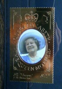 St Vincent 2000 Queen Mother Century Gold Foil Issue MNH