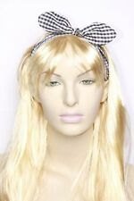 Black & White Stretch Back Wired Bow Young Teen Playful Headband (s46)
