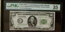 $100 1928-A FEDERAL RESERVE NOTE CHICAGO - PMG - CHOICE VERY FINE 35-G01954371A