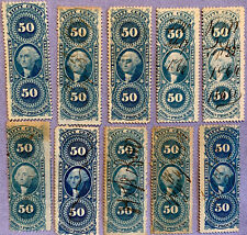 Us Scott # R60c - Used - Nice Revenue Stamps ( A Lot Of 10 )