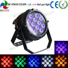 Led twaterproof light 12x18w rgbwa uv 6in1 led par can light IP65 for party DJ