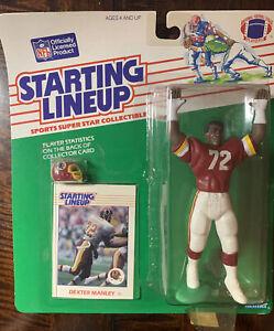 1988 STARTING LINEUP DEXTER MANLEY Washington Redskins WFT RARE Figure (B2)