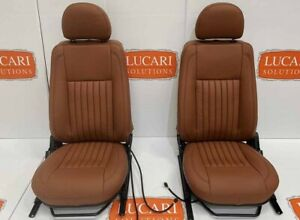 Tan fluted leather heated TDCI/PUMA front seats Fit Land Rover Defender 90/110