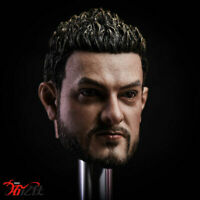"1/6 Amir Khan Man Head Carving Sculpt Model Toy PVC Fit 12"" Male Doll No Figure"