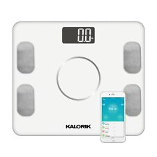 Kalorik Home Smart Electronic Body Analysis Scale, White