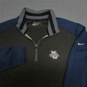 NIKE TOUR 1/4 ZIP POLY GOLF PULLOVER--M--MARQUETTE--WRINKLE FREE--TOP QUALITY