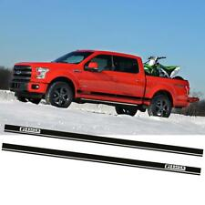 for 2015-2018 Ford F-150 Rocker Side Skirt Stripe Body Sticker Decals Black