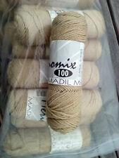 13 Skeins of MADIL Merinomix 100 Knitting Yarn Color #647 (Light Khaki) Wool Mix