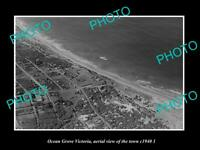 OLD LARGE HISTORIC PHOTO OCEAN GROVE VICTORIA AERIAL VIEW OF THE TOWN c1940 2