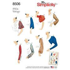 Uncut Simplicity Misses Sz 10-22 1930s Vintage Set of Sleeves Pattern 8506