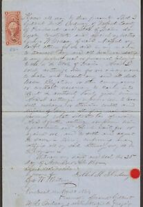 Maine: Newport 1864 Document with #R76c $1.00 Probate of Will Revenue