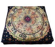 "35"" Large Floor Cushion Pillow Cover Large Zodiac Mandala Room Decorative Throw"