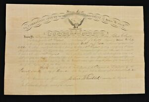 1862 Appointment for Pearl Ingalls - 2d Sergeant 8th Maine Vols.- wounded x2 '64