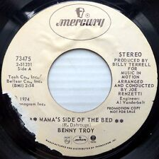 BENNY TROY Funk SOUL PROMO 45 Mama's Side Of The Bed b/w She Was Good E4151 HEAR