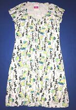 Fresh Produce 2x White Emma Floral Vines Stretch Knit Dress 2x