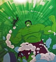 Incredible Hulk SMASH Hand Painted PRODUCTION cel signed STAN LEE PSA DNA h6