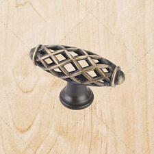 "Cabinet Hardware Bird Cage Knobs kL49 Brushed Antique Brass 2-5/16"""