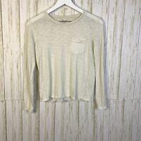 Madewell Women's Long Sleeve Crew Neck T-Shirt Size XS White