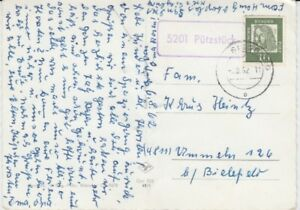 Landpoststempel   5201 Pützstück  1962
