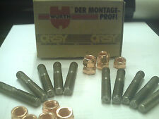 LAND ROVER TD5 UPRATED WURTH MANIFOLD STUDS X10 AND COPPER NUTS X10