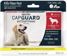 SENTRY Capguard (nitenpyram) Oral Flea Control Medication, 25 lbs and Over