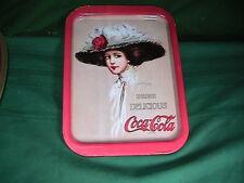 COCA-COLA VICTORIAN WOMAN METAL SIGN Coke Soda Lady  Vintage Tin Advertising