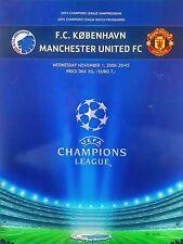 FC Kobenhavn (Copenhagen) v Manchester United 1/11/2006 Uefa Champions League