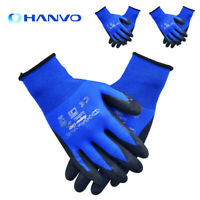 3Pairs Thicken PU Nitrile Safety Work Gloves Palm Coated Gloves Mechanic Gloves