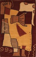 Artist's Loom Hand-tufted Contemporary Abstract Wool Oriental Rug 5x8ft 3x5 4x6