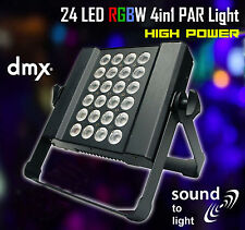 LED RGBW Slim PAR Light 4in1 24x1W Sound to Light DMX High Power Wall Wash