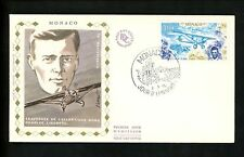 Postal History Monaco Fdc #1062 Lindergh aviation flight airplane 1977