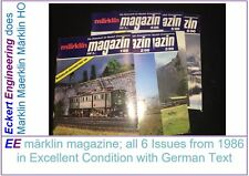 EE märklin magazine All 6 Issues from 1986 in Excellent Condition German Text