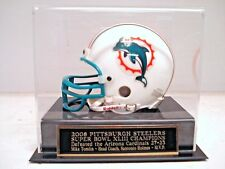 Football Mini Helmet Display Case With A Steelers Super Bowl 43 Nameplate