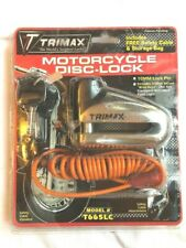 New listing Trimax T665Lc Motorcycle Disc Lock - Chrome 10mm Lock Pin Used