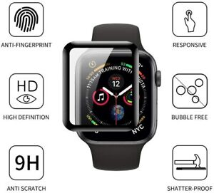 Tempered Glass Screen Protector Apple Smart Watch iWatch 6 5 4 SE 44 40 mm Full