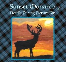 Sunset Monarch Needle Felted Picture Kit