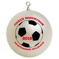 Personalized Custom Soccer Coach Christmas Ornament