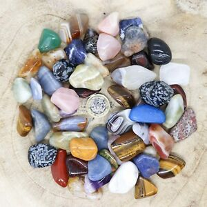 50 x Assorted Crystal Tumblestone Sets Collections 435g-580g Reiki seconds