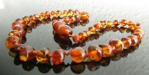 45cm 50cm Genuine Baltic Amber Knotted Beads Necklace, Matching Earrings