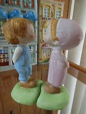 "Hallmark Little Gallery Betsey Clark Collection Kissing Girl & Boy 4 1/2"" 1979"