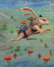 White Rabbit by Kami proost – Double sided sheet blotter art