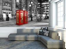 London The Red Telephone Wall Mural Photo Wallpaper GIANT WALL DECOR Free Paste