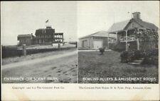 Crescent Park CT Entrance & Bowling Alley c1910 Postcard