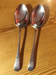 2 x Vintage Joseph Elliott & Sons Silver Plated EPNS Table Spoons 21.5cm