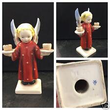 Antike Hummelfigur Engel mit Kerzenleuchter HE 8/4 Hummel Porzellan Figur