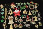 Vintage Estate Jewelry Christmas Lot Earrings Pins Brooches Weiss Hedy Beatrix